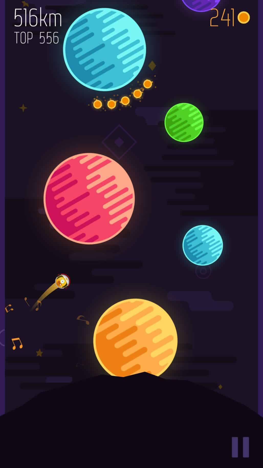 The colorful planets gives a good sense of fun to the app design of Planet Leap