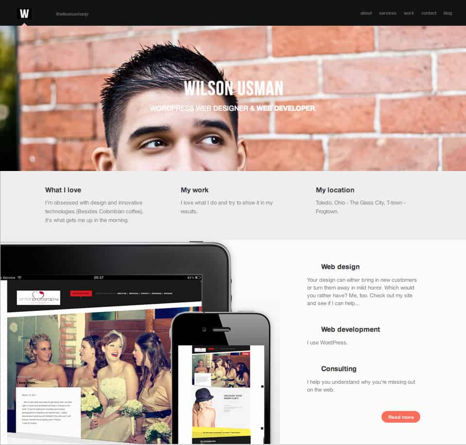 A photo of an intuitive website design.
