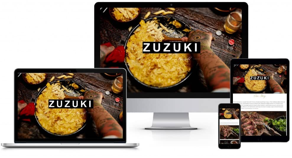 A photo of a responsive website design.