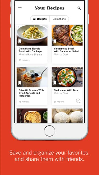 A photo of NYT Cooking app, Top 10 Mobile App UI of December 2016