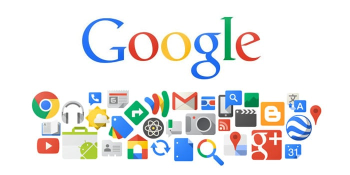 A photo of all the Google products logos, products with great design.