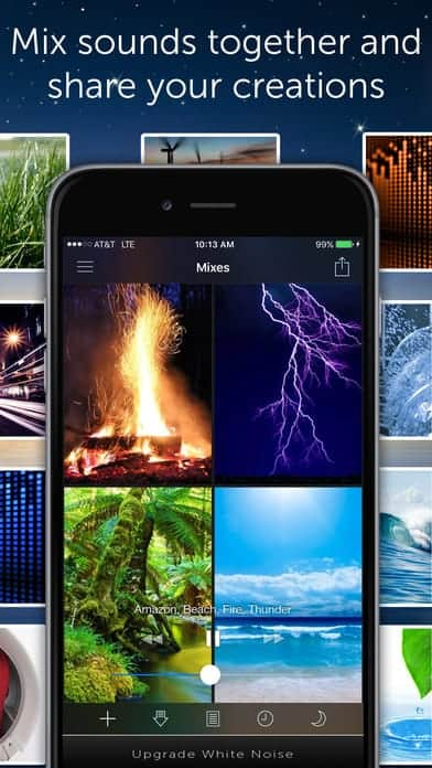 A photo of White Noise, Top 10 Mobile App UI of August 2017