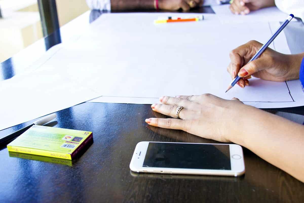 Women planning app design.