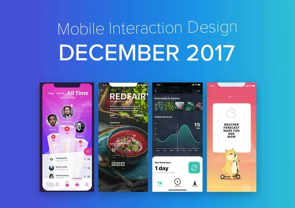 Top 5 Mobile Interaction Designs of December 2017
