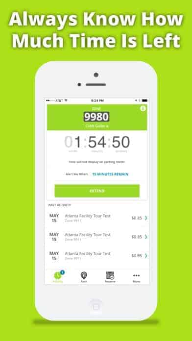 A photo of Parkmobile, Top 10 Mobile App UI of January 2018