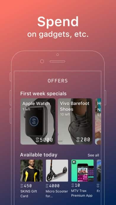 A photo of Sweatcoin, Top 10 Mobile App UI of January 2018